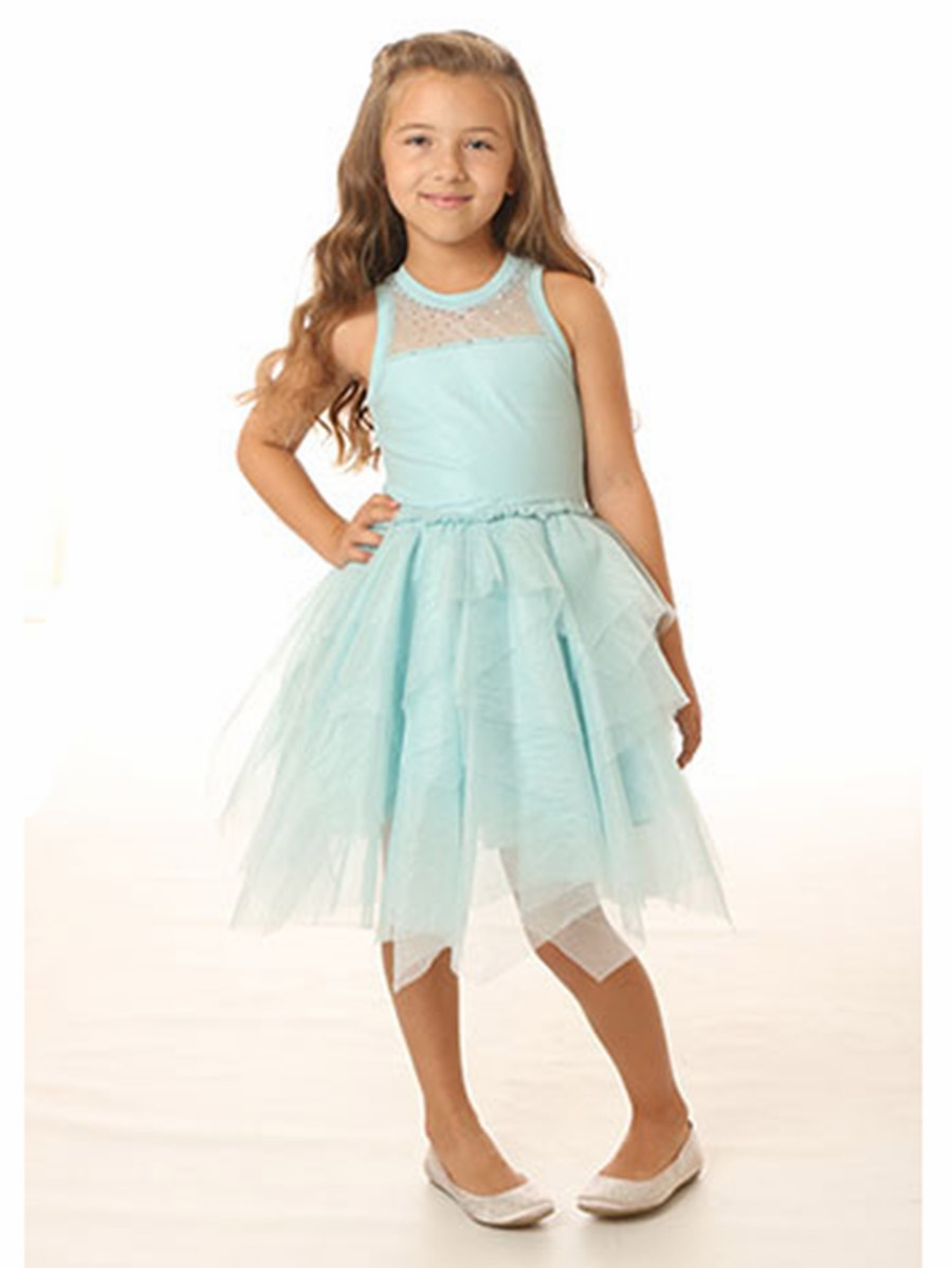 Ooh la la couture blue ice tulle necklace dress for La couture clothing