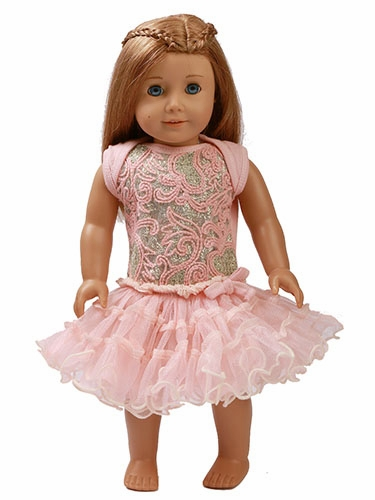 "Ooh! La La! Couture Blush Champagne Poufier 18"" Doll Dress"