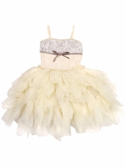 Ooh! La La! Couture Champagne Lace WOW Emma Dress