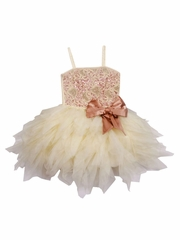 Ooh! La La! Couture Champagne & Rose Gold WOW Emma Dress