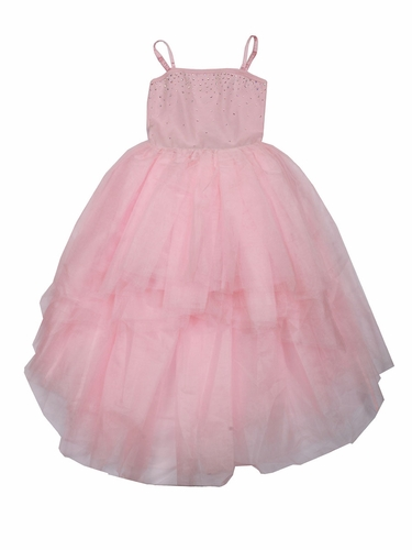 Ooh! La La! Couture Crystal Kylee Pink High Low Dress