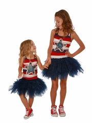 Ooh! La La! Couture Denim Star Blue & Red 4th Of July Dress