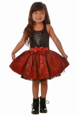 Ooh! La La! Couture Fuchsia/Black Sequin Tie Bow Dress