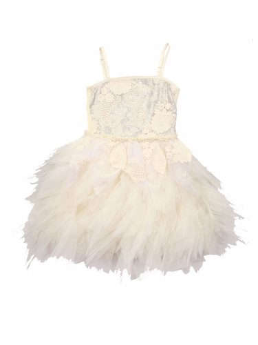 CLEARANCE - Ooh! La La! Couture ivory/Champagne WOW Emma Dress