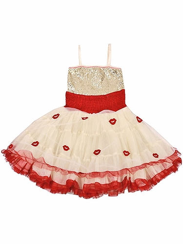Ooh! La La! Couture Lips WOW Pouf Champagne Dress