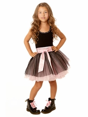 Ooh! La La! Couture Pink & Black Tie Bow Dress