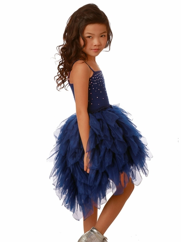 Ooh! La La! Couture Royal Blue Swarovski Devin High Low Dress