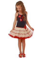 FLASH SALE: Ooh! La La! Couture Sequin Stars 4th Of July Dress