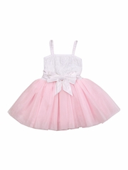 Ooh! La La! Couture WOW Sequin White & Pink 2 Tone Dress