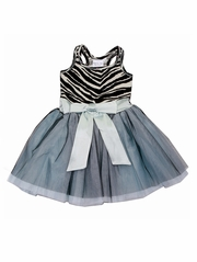Ooh! La La! Couture Zebra Tie Bow Dress