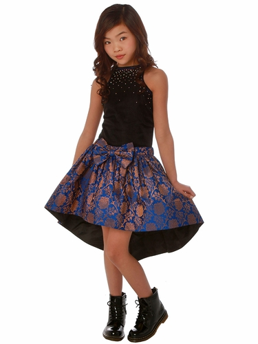 Ooh! La La! Royal Blue Couture Skirt Set