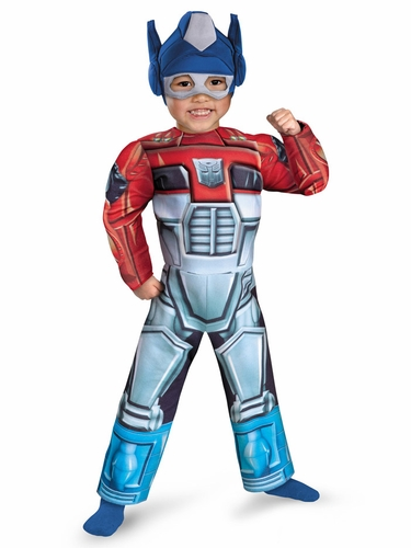 Optimus Rescue Bot Muscle Kids Costume