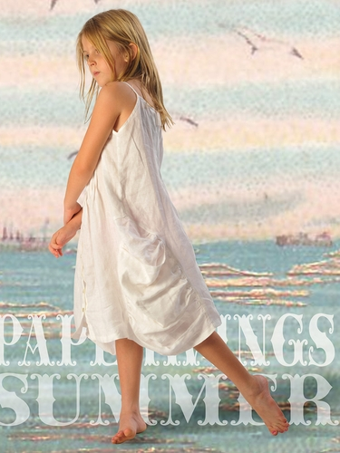 Paper Wings Cream Pintucked Linen Dress