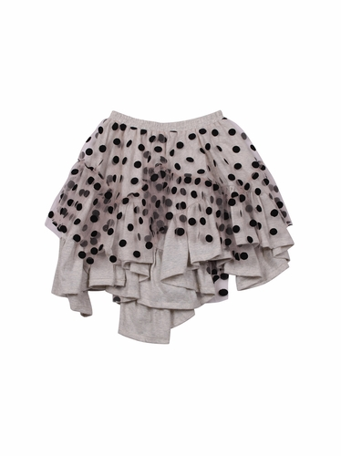 Paper Wings Flock Spot Tulle Frilled Skirt