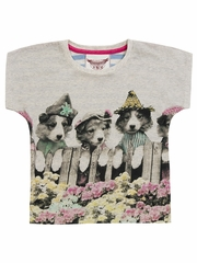 Paper Wings Puppy Border Square Tee