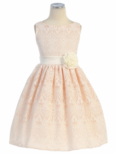 Peach Sweet Vintage Lace Dress