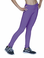 Periwinkle ChloeNoel Solid Color Skinny Yoga Off Ice Elite Pant w/ Front Pocket