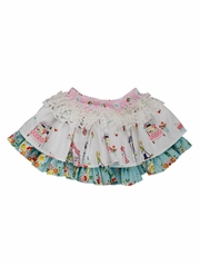CLEARANCE - Persnickety A Bushel & A Peck Paris White Skirt