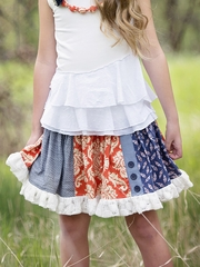 Persnickety Alpine Daisy Shirley Skirt