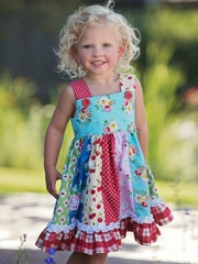 Persnickety  Blue A Bushel & A Peck Adele Dress