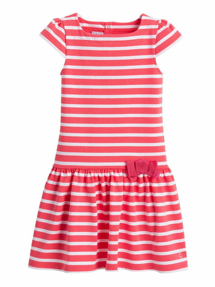 489adcb1d6b4 ... Pink   White Short Sleeve Striped Dress w  Bow. Click to Enlarge ...