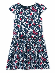 Petit Bateau Short Sleeve Floral Dress