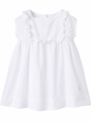 Petit Bateau White Short Sleeve Woven Dress