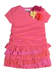 FLASH SALE:  Petit Lem Baby Marmelade Fuchsia Drop Waist Dress