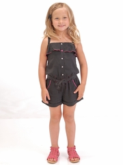 FLASH SALE - Petit Lem Bows & Arrows Woven Jumpsuit Romper