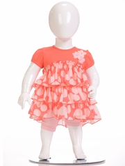 FLASH SALE:  Petit Lem Coral Ruffle Dot Dress w/ Panty