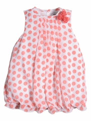 Petit Lem Fluffy Flamingo Dot Dress