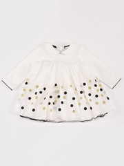 "Petit Lem ""French Ballet"" Dot Jacquard Dress"