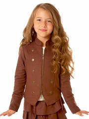 Petit Lem �From Russia With Love� Chocolate Military Blazer
