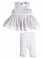 Petit Lem My First Love White Two Piece Dress Set