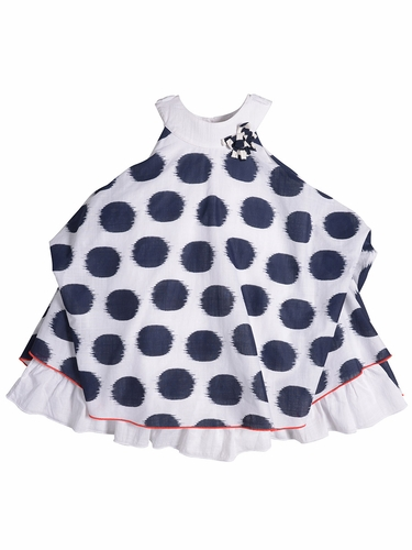 Petit Lem Paris My Love Polka Dot Dress