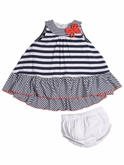 FLASH SALE:  Petit Lem Paris My Love Stripe Dress Set