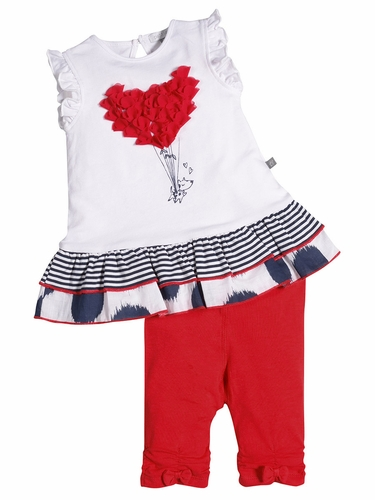 Petit Lem Paris My Love Tunic Set