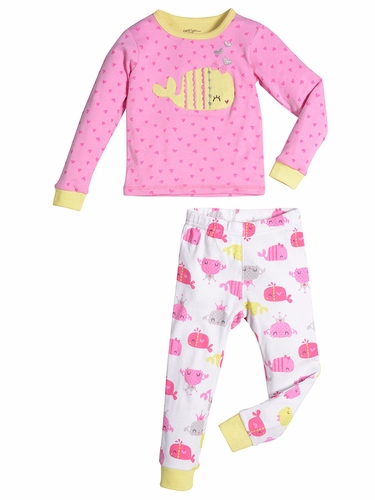 Petit Lem Princess Of The Ocean Baby Whale Top & Pants Set