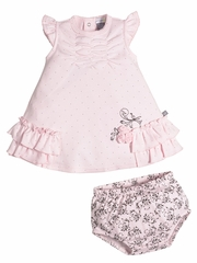 Petit Lem Romantic Garden Light Pink Dress Set