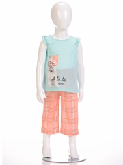 "Petit Lem Sleep 2PC ""Ooh La La"" Dog Print Pajama Set"