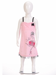 "Petit Lem Sleep ""Ballet"" Print Pajama Dress"