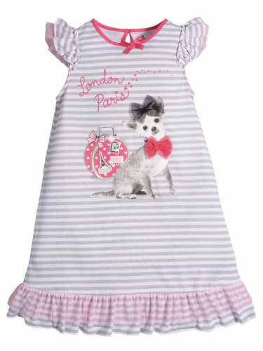 Petit Lem Sleep Glamour Traveling Voyage Pajama Dress