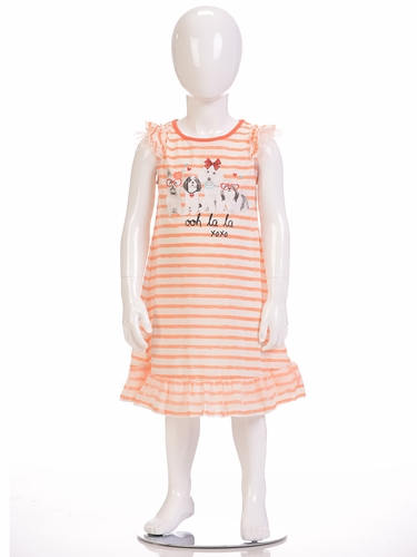 "Petit Lem Sleep ""Ooh La La"" Dog Print Pajama Dress"