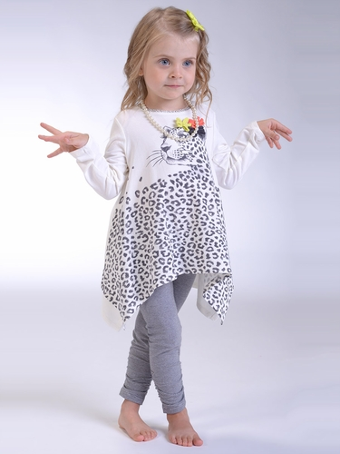 "Petit Lem ""Wild Revolution"" Leopard Tunic w/ Leggings Set"