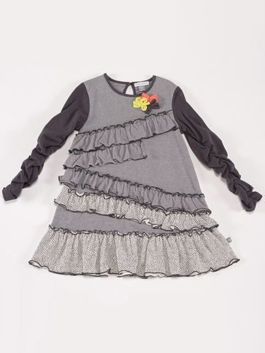 "Petit Lem ""Wild Revolution"" Tent Dress w/ Ruffle Detail"