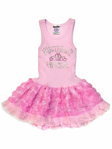 Pink Birthday Princess w/ Crowned Skirt