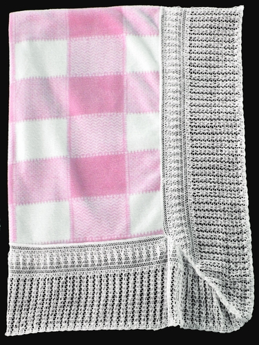 Pink Blanket w/ Checker Board