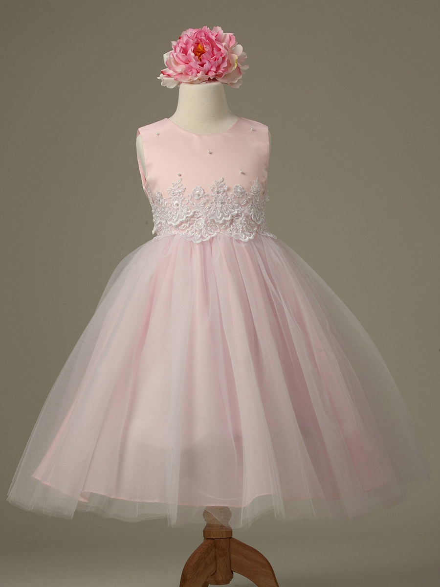 Pink Cinderella Tulle Flower Dress