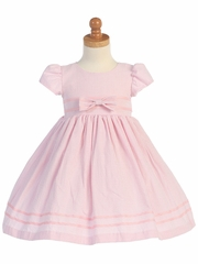 Pink Cotton Seersucker Dress