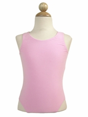 Pink Cotton Tank Leotard